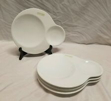 NEW! SET OF 4 OLIO & PANE ASA SELECTION WHITE PORCELAIN OLIVE OIL DIPPING PLATES