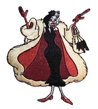 101 Dalmatians Movie CRUELLA DE VIL CHARACTER Iron-on/Sew-on Embroidered PATCH