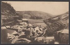 Postcard Boscastle Cornwall early view of The Village published by Webber