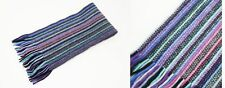 Mens/Ladies 100%Cashmere Purple Striped Knitted Scarf Made In Scotland (col 3)