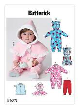 Butterick Easy SEWING PATTERN B6372 Infants Cape,Bunting & Pants NB-XL