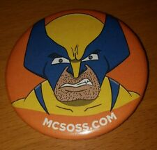 "MARVEL COMICS X-MEN WOLVERINE 2015 MCSOSS.COM 2"" PROMO BADGE BUTTON PIN"