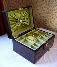 ANTIQUE VICTORIAN COROMANDEL & MOTHER OF PEARL INLAID JEWELLERY BOX LARGE 11""