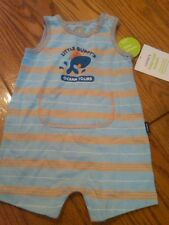 NWT INFANT BOYS CARTER'S SLEEVELESS SHORT ROMPER GUPPY'S BLUE WHALE 3 MONTHS