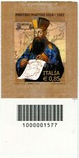 2014 francobollo  Martino Martini DX CODICE A BARRE 1577