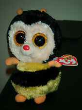 """Ty Beanie Boos ~ STING the 6"""" Bee ~ w/ Sparkly Eyes ~ MINT with MINT TAGS ~ RARE"""