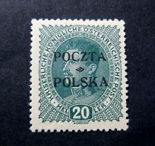 POLONIA, POLAND, POLSKA 1919 Austrian OVP 20 heller   MH