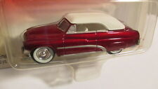 2002 Johnny Lightning Retro Rods 2 #11 1951 MERCURY CONVERTIBLE red w/ white top