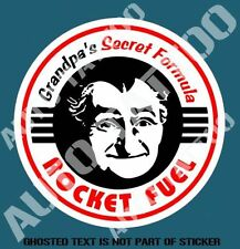 GRANDPAS SECRET FORMULA Decal Sticker for Mancave Rat Rod Hot Rod Decal Stickers