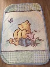 Walt Disney The Winnie The Pooh Classic Pooh Bear Fuzzy Blanket 40x28