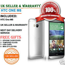 HTC One M8 16GB Glacial Silver Unlocked Smartphone UK SELLER ** MINT GRADE A++