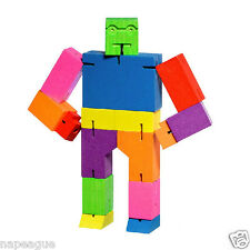 Multi-Color Micro Cubebot ROBOT Wood Puzzle Made By Areaware