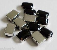 Confezione da 12 gioielli trovare Nero Gemme in Argento Alloggiamento bracellete scoperte