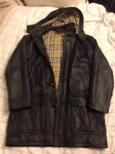 Burberry Leather Coat Size 46 Vintage 90's Never Worn Was £2500! Men's Jacket