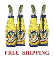 CORONA EXTRA LIGHT CINCO DE MAYO 4 BEER BOTTLE KOOZIE COOLIE COOLERS HUGGIE NEW