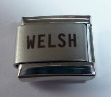 WELSH Italian Charm - I LOVE WALES Proud to be from - 9mm fits Classic Bracelets