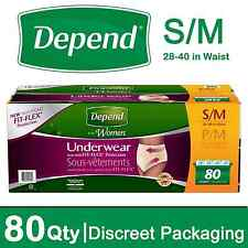 Depend for Women Underwear, Maximum Absorbency, Small/Medium 80 ct.  Discreet
