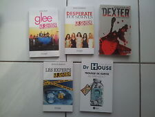 lot 5 livres ' guide du série addict ' Dr House Dexter Glee Les Experts Desperat