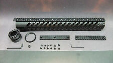 "16"" Inch Hunting BLACK Anodized KEYMOD Free Float Hand Guard Fore Grip + 2 Rails"
