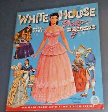VINTAGE WHITE HOUSE PARTY DRESSES PAPER DOLLS UNCUT 1961 MERRILL CO. ORIGINAL