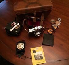 Vintage Kodak Retina Reflex 35mm Camera W/extras
