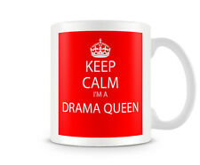 Keep Calm I'm A Drama Queen Red Printed Mug