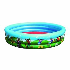 Disney Clubhouse - Mickey Mouse Blue Green 3 Ring Inflatable Paddling Pool