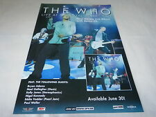 THE WHO - LIVE ROYAL ALBERT HALL!!!!!PUBLICITE / ADVERT