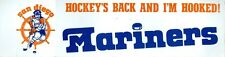Original 1974 WHA San Diego Mariners Bumper Sticker 15 x 4 inches