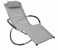 New Summer Sun Lounger Rocking Chair Outdoor Gravity Folding Garden Hammock Grey