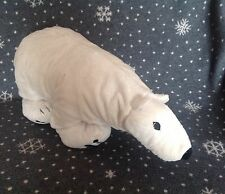 "IKEA KLAPPAR ISBJORN WHITE POLAR BEAR SOFT PLUSH COMFORTER TOY 24"" long"