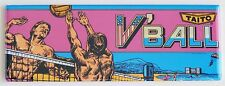 V'Ball Marquee FRIDGE MAGNET (1.5 x 4.5 inches) arcade video game volleyball