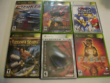 Lot of 6 original xbox games Halo Fable Sonic heroes prince of persia spiderman