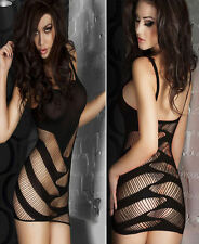 Sexy Fishnet see through Body stocking Bodysuit Lingerie Babydoll dress HDL7BL