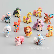 Palace Pets Cake Toppers Princess Figures Pony Ponies Kids Toy Gift 12pcs Set