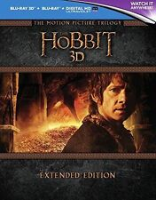The Hobbit Trilogy Extended Edition 3D [3D & 2D Blu-ray Box Set Region Free] NEW