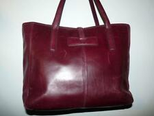 "Adrienne Vittadini Burgundy Leather Shoulder Bag Tote 10""T- 12""W"
