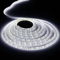 5M White Waterproof 300 LED Strip Light 5050 SMD String Ribbon Tape Roll 12V