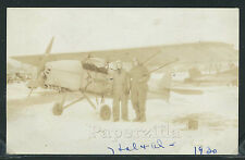 IL Chicago RPPC '30 PILOTS POSE W/ EARLY AIRPLANE Leather Helmets & Goggles