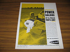 1963 Vintage Ad Gale Sovereign Outboard Motors Sportcraft Boat