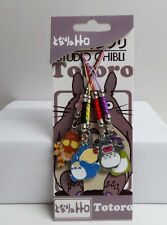 Cute My Neighbor Totoro Cat Bus Cell Phone Charm 5 pcs Set C