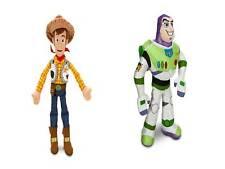 "Toy Story BUZZ  and  WOODY Large PLUSH Set 2 pcs 17"" Disney Store NEW"