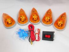 5 TRUCK RV AMBER UNIVERSAL CAB CLEARANCE MARKER ROOF DODGE FORD CHEVY LIGHTS