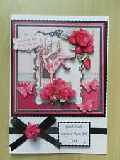 Luxury Hand-Made New Job or Birthday Card-Can Be Personalised