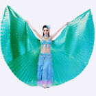 3 PCS stick&Wings&bag Belly Dance Costume 360° Angle Isis Wings 11 colors