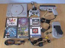 SONY PLAYSTATION 1 PS1 (PAL) Console (SCPH - 9002) + 6 Gioco Bundle