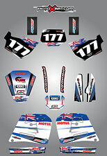 Full  Custom Graphic  Kit -AUSSIE PRIDE - Husqvarna WR 250 360 - 1996 / 2007