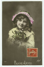1910's Child Children Cute PRETTY YOUNG GIRL French photo postcard