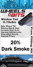 Fiat 500 Punto Uno Vitre Teintée 20% Fumé Foncé isolation UV Film solaire