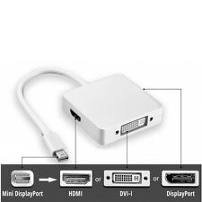 MINI Display Port Thunderbolt ad HDMI DVI DP Adattatore per Macbook Air Pro Mac